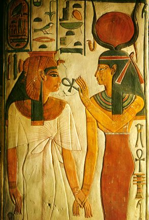 """Isis: """"throne""""; Worshipped as ideal mother and wife as well as the patroness of nature and magic.  it was believed that the Nile River flooded every year because of the tears of sorrow which Isis wept for Osiris."""