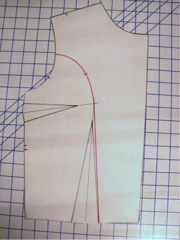how to manipulate darts on a bodice to make princess seams