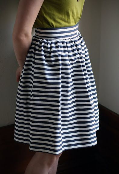 DIY: Striped Gathered Skirt - Say YesSay Yes                                                                                                                                                      More