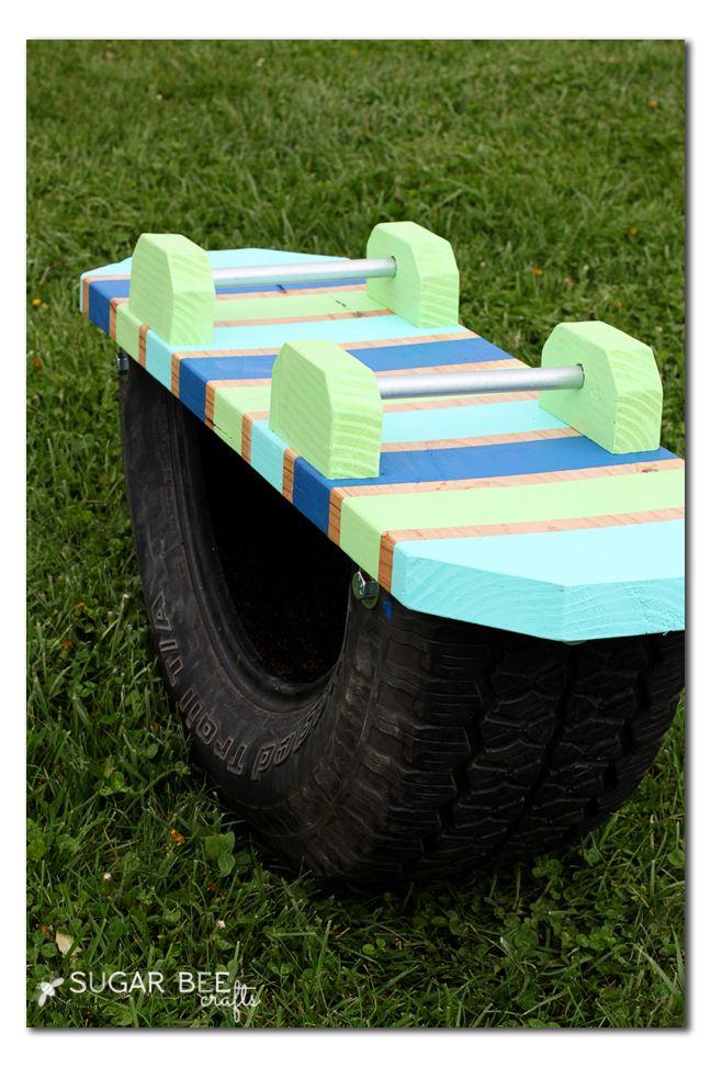 DIY Tire Teeter Totter