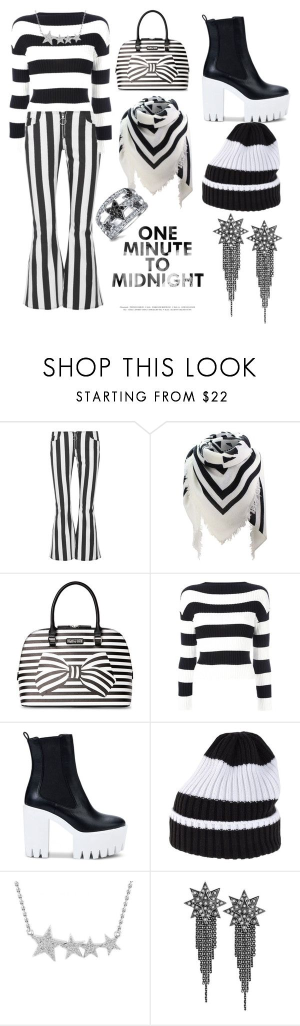 """B&W New Years"" by nerd-muffin ❤ liked on Polyvore featuring Marques'Almeida, Kenneth Cole Reaction, Boutique Moschino, STELLA McCARTNEY, White Mountaineering, Ana De Costa and Bling Jewelry"