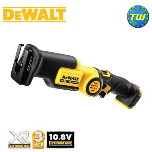 http://www.twwholesale.co.uk/product.php/section/10395/sn/DeWalt-DCS310N-XJ DeWalt DCS310N Body Only 10.8V Mini Reciprocating Saw is an ultra-compact and lightweight cordless tool with an adjustable 3x position pivoting handle perfect for tight and difficult spaces. The saws lever action keyless blade clamp allows for quick and easy blade changes, while an LED light provides illumination in dark recesses.