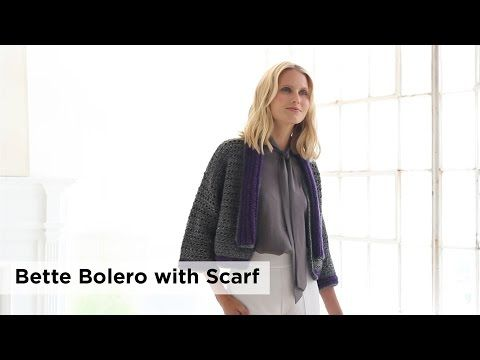 Your Crochet Style: Bette Bolero with Scarf in Heartland® - Lion Brand Notebook