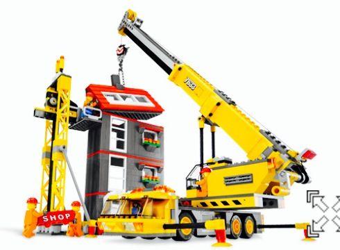Lego 7633 construction site set >>> 5 minifigures <<<< boys building toy crawler crane 7686 7632 bulldozer Legos