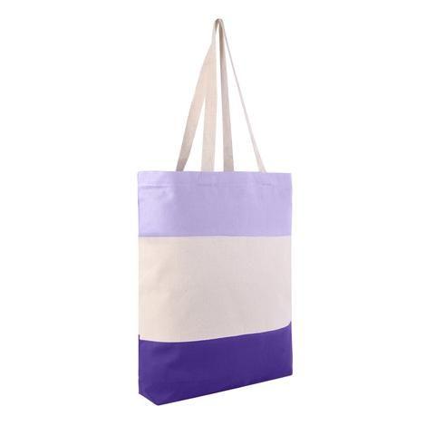 9eb7e0b70f5a1 Heavy Canvas Tri-Color Fancy Canvas Tote Bags - TG259 in 2019 ...