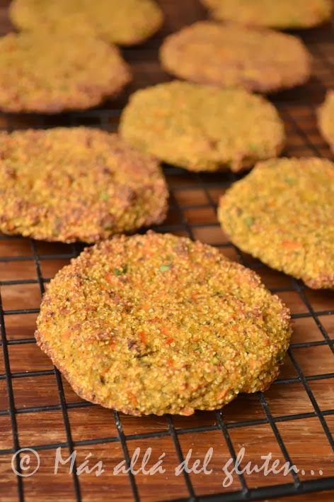 Más allá del gluten...: Pastelitos de Amaranto y Verduras (Receta GFCFSF, Vegana)