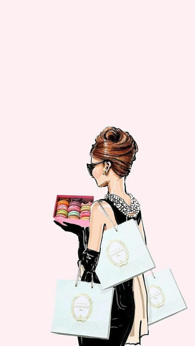 Pin By Pathumporn Trivisavavet On Iphone Wallspaper Megan Hess Illustration Megan Hess Audrey Hepburn Wallpaper