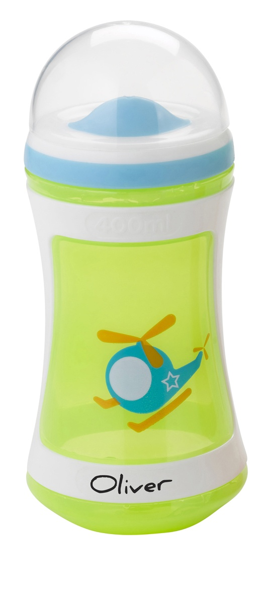 Tommee Tippee® discovera® Two-Stage Drinker 24m+ #sippycup #tommeetippeeau #discovera #cutecup #oliver #green #toddler #helicopter #boys