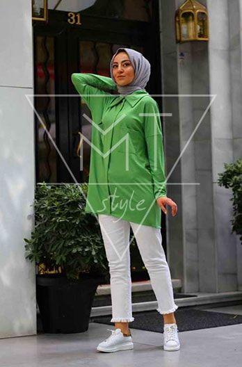 Sie können dieses Grünes Hemd mit Taschen leicht in Ihrem täglichen Leben tra… – Hijab Fashion – Kleidung Frauen