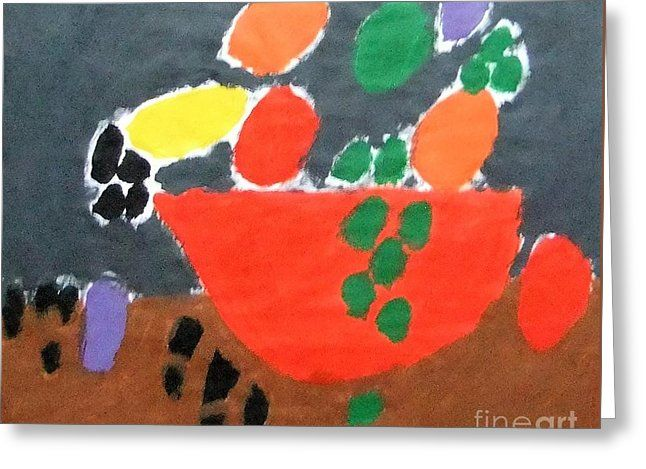 Patrick Francis Greeting Card featuring the painting Bowl Of Fruit 2014 by Patrick Francis
