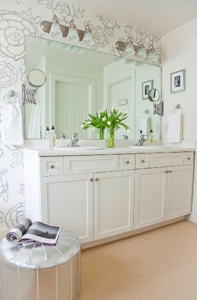 ottoman for a make up stool  and love the double extendable mirrors   Bathrooms. 17 Best ideas about Extendable Mirrors on Pinterest   Extendable