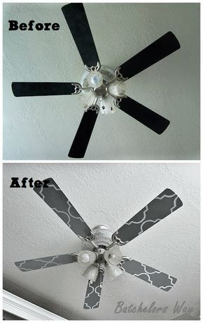 All it takes is a stencil and some paint to glam up a ceiling fan. Ronda Batchelor of Batchelor's Way shows you how she painted her ceiling fan.    @rondabatchelor