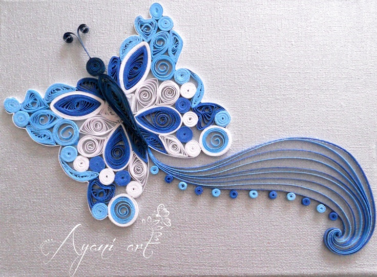 Quilled butterfly #quiling