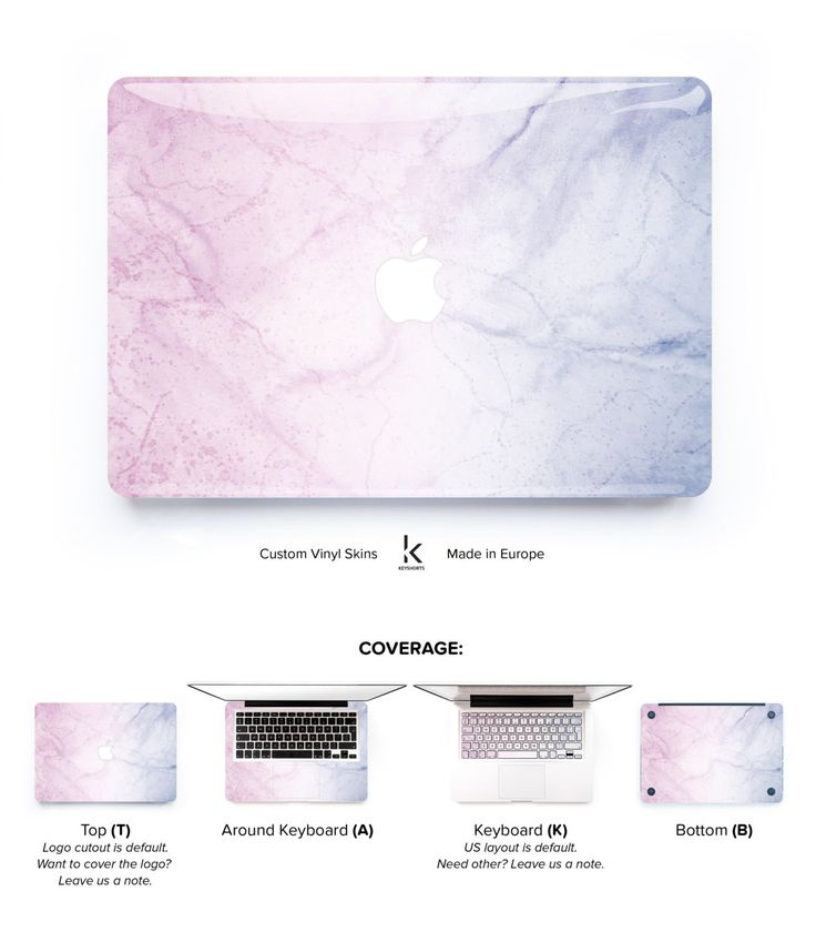 Pastel marble Macbook Skin by Keyshorts. Check other Macbook Skins and complete your unique set!