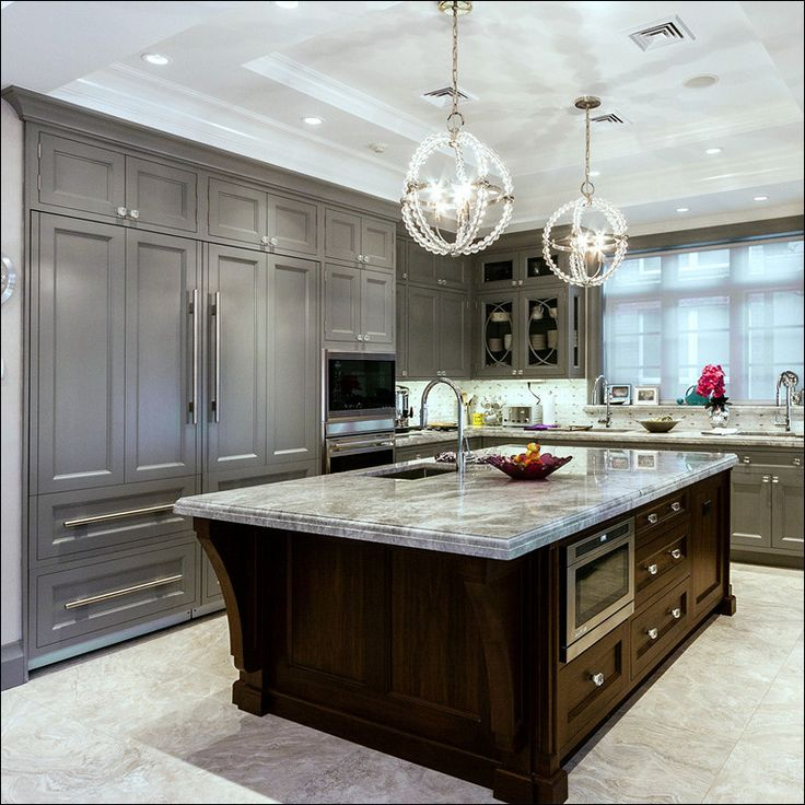 Gray Stained Oak Cabinets Fantastic Kitchen Grey ...