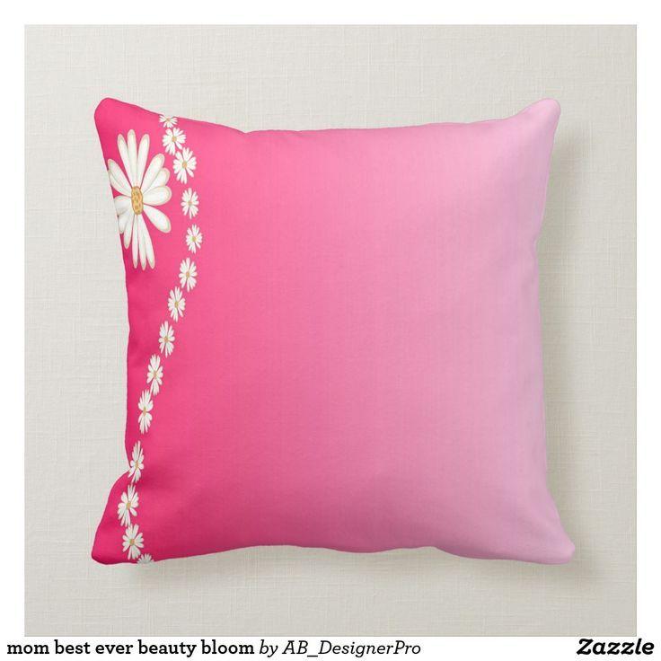 Pink Flowers Throw Pillow |