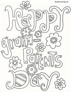Grandparent's Day coloring sheets