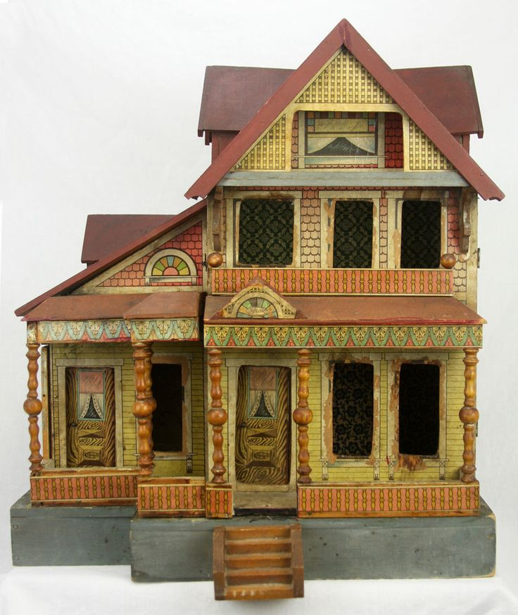 Awesome Antique Dollhouse Ebay Woodworking Projects Plans Download Free Architecture Designs Scobabritishbridgeorg