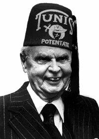 John Diefenbaker ex prime minister of Canada. (1957-1963) freemason Waka lodge 166. Waka Sask. Tunis lodge Ottawa Shriner potentate. Satanist. Child rapist.