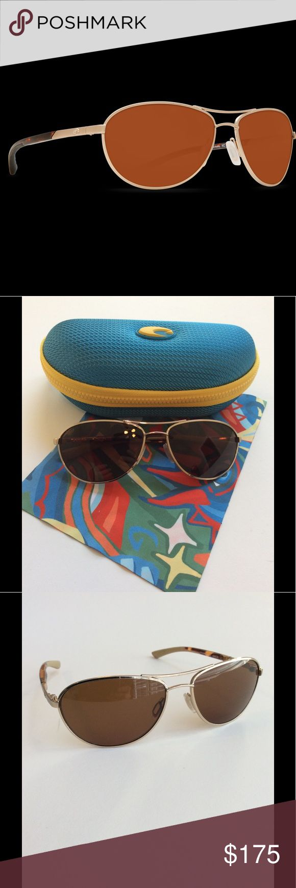 Costa Del Mar Sunglasses Kenny Chesney line Personally designed for Kenny Chesney, the stylish Costa KC sunglasses feature classic style and a one of a kind rose gold frame. 100% polarized frames (580), rust resistant, unisex. Lens color is copper. Perfect condition, worn literally one time. Costa del mar Accessories Sunglasses