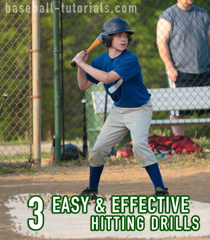 3 easy & effective baseball hitting drills that can be used to coordinate hitting & breathing, get rid of tension, and gauge percentage of power on a swing.