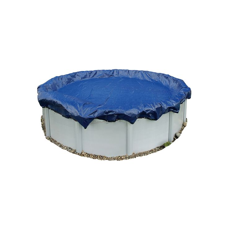 Blue Wave Gold-Grade Round Above-Ground Winter Pool Cover for 12-ft. Pool, Multicolor, Durable