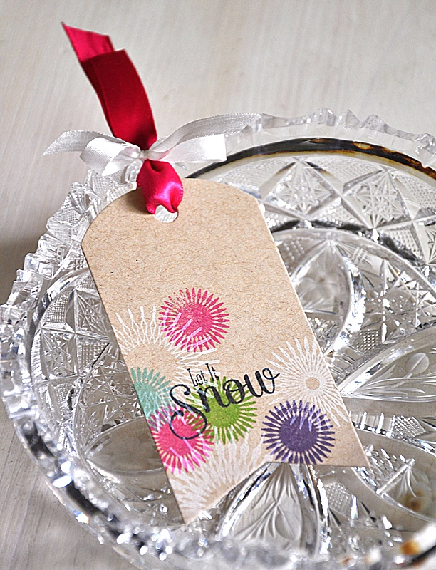 Let It Snow Tag by Maile Belles for Papertrey Ink (October 2012)