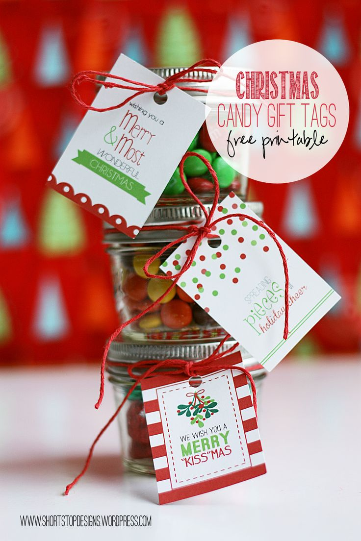 Who doesn't love candy? I've created 3 Candy Gift Tags for this Christmas occasion that will make a sweet last minute gift! Put candy in a jar and wrap the tag around it, or wrap them in some clear...