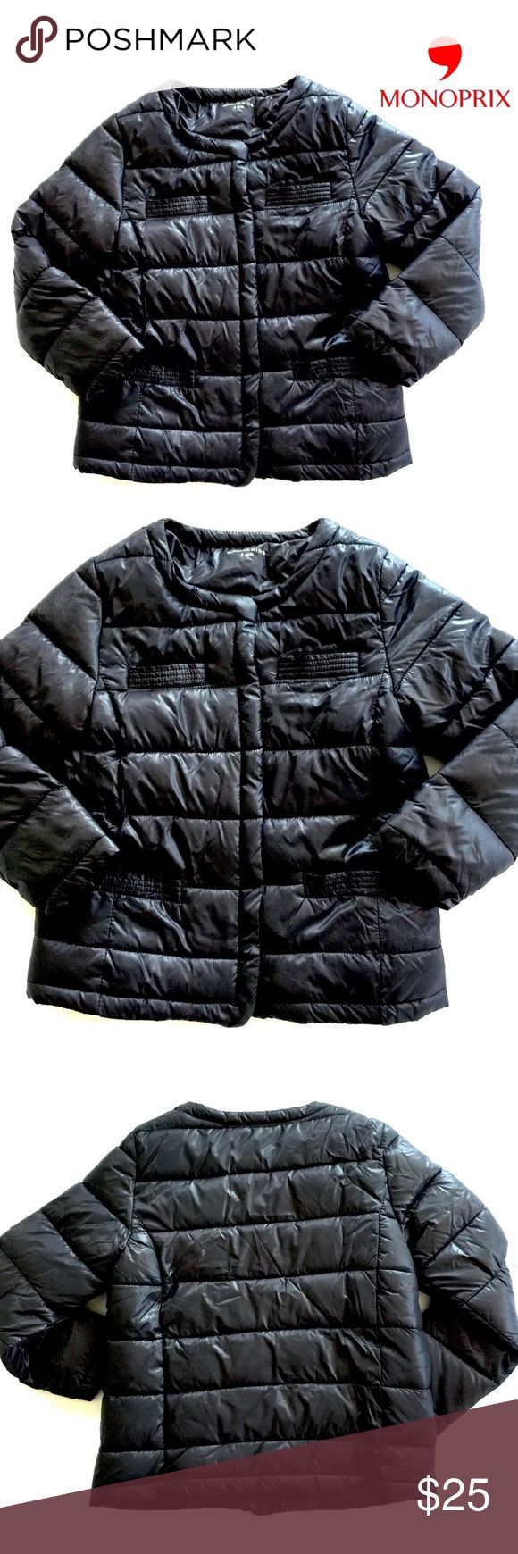 """Authentic Monoprix Paris Puffer Coat in Girls' 7/8 This authentic Monoprix Paris Puffer Coat in Girls' 7/8 is in excellent used condition. Purchased in Paris, France, at the famous Monoprix. This puffer jacket features 4 front pockets and 8 snap closure.  No irritating tags!  Features an unused name & phone number tag! Size reads """"8 ans"""", which translates to 8 years; but it fits small. I chose to call it a 7/8. It is washable with like colors and cold water. The dryer is not recommended.  It…"""