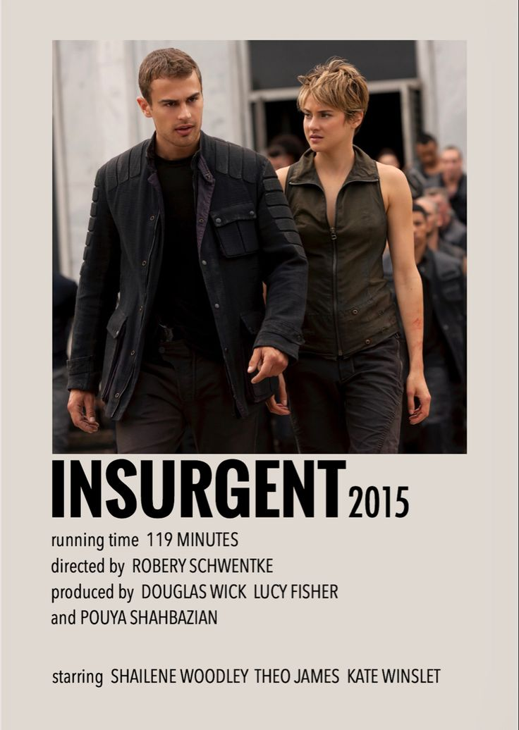 Insurgent by millie in 2020 movie posters minimalist