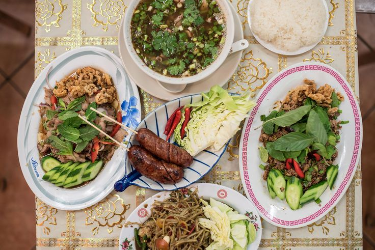 Experience L.A.'s Most Intense Thai Food in the Back of a North Hollywood Swap Meet - Eater LA  : Song Fung Khong serves fiery Isaan food in style