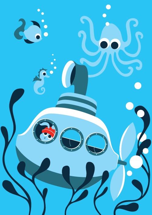 The life aquatic. A Regan Squared illustration by Nanette and Phil Regan