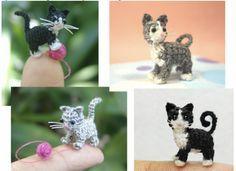 patrón de crochet libre gatito micro