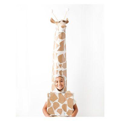 Put those Honest boxes to good use to create this DIY Giraffe Costume! | via Babble #halloween2013