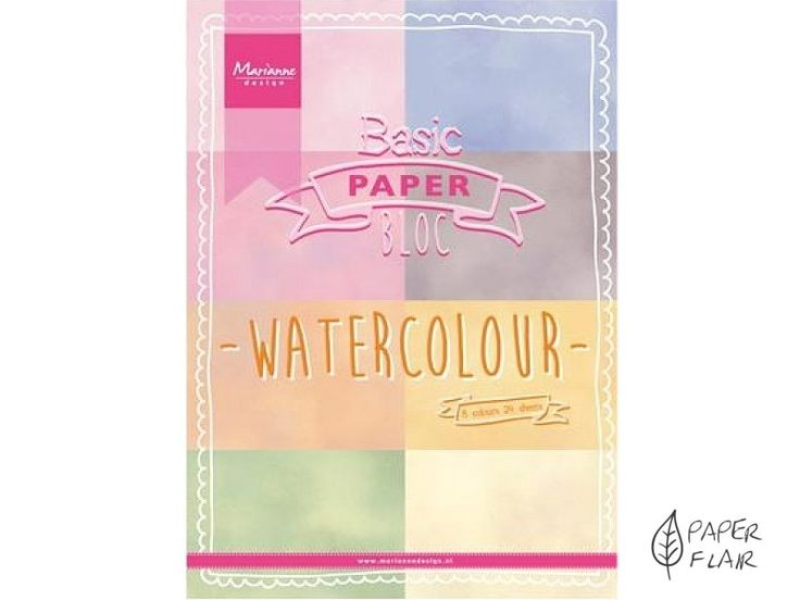 Scrapbookingpapier - Watercolor.