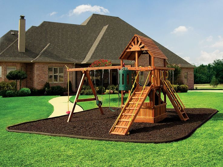 backyard playgrounds | ... Playgrounds and Homes : Easy Playground Design With Its Rubber Mulch