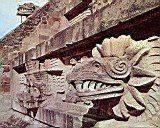 Templo de Quetzalcóatl (Teotihuacan, México). Detalle
