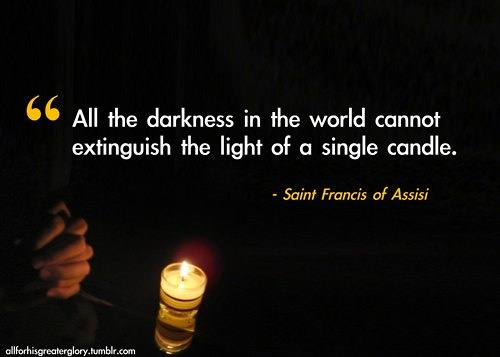 Light and darkness found within the