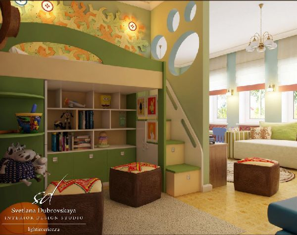 wall decorating in luxury kids bedroom interior design