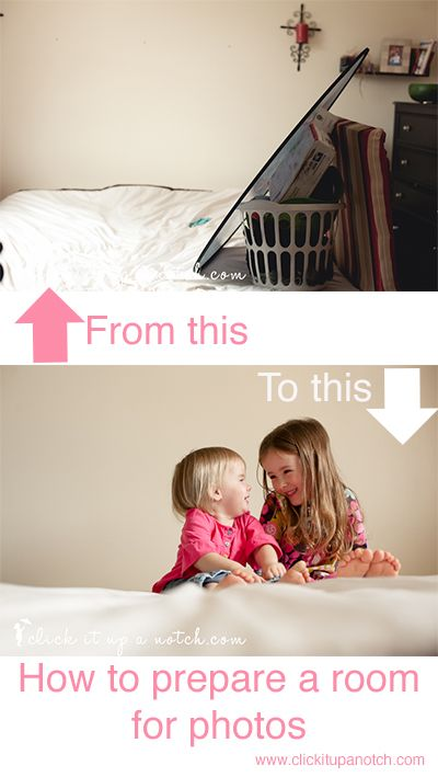 How to prepare a room for photos