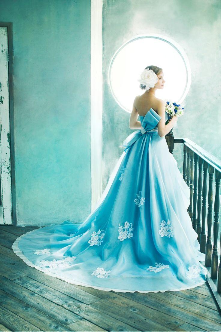 BTNV139(Blue Ribbon) #NOVARESE #ノバレーゼ #colordress #blue #ribbon