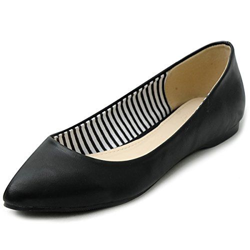Ollio Womens Ballet Shoe Comfort Basic Light Multi Color Flat 65 BM US Black * You can get more details by clicking on the image.