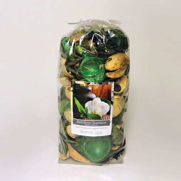 Bag of Bamboo Jasmine Scented Botanical Potpourri - SBP401 - Bag of bamboo jasmine scented botanical potpourri. Use with our electric scented tart / candle warmer combos. Simple fill the bowl with the potpourri and let the aroma fill the air. Or add potpourri to the bowl, cover with water, and plug in the combo. FOR SALE