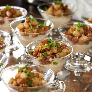 David's Mardi Gras Shooters have Grits, Shrimp & Sausage - what a perfect combination!
