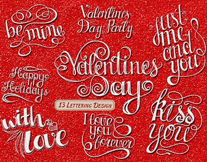 """Check out new work on my @Behance portfolio: """"Valentines Day Lettering"""" http://be.net/gallery/47097153/Valentines-Day-Lettering"""
