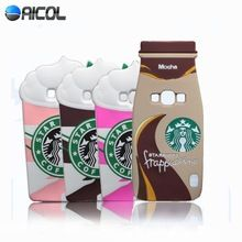 New 3D Ice Cream Starbuck Silicone Case For Samsung Galaxy J5 J500 J500F J500H Mocha Frappuccino Bottle Cup Soft Back Cover(China (Mainland))