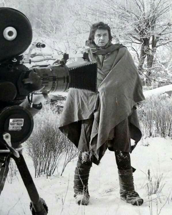 "Johnny Cash on the set of "" Trail of Tears """