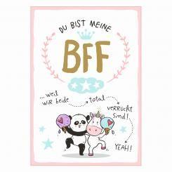 Postkarte »BFF«