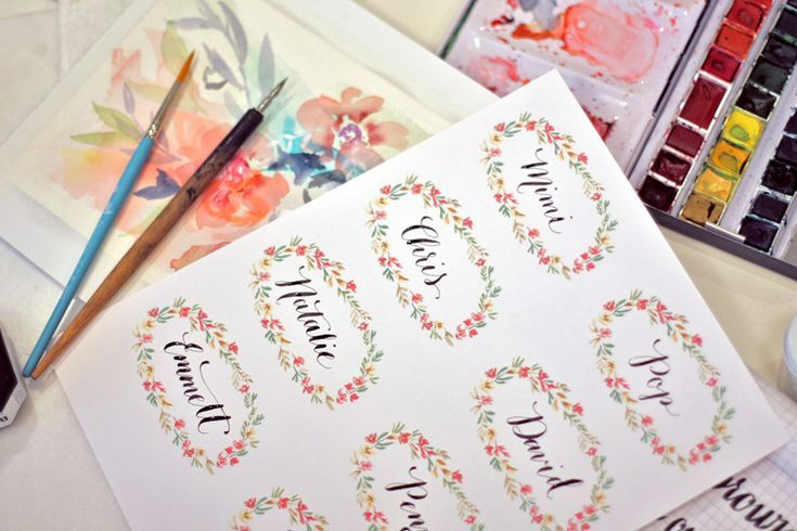 Decorate Your Thanksgiving Table With These Place Cards: Watercolor Thanksgiving Place Cards by Natalie Malan