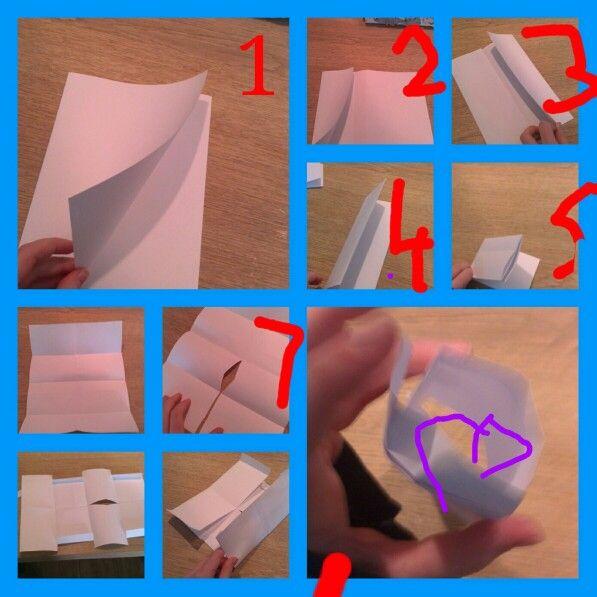 Makkelijke papieren portemonnee